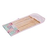Patchwork Floral Bamboo Knitting Pin Set Filled