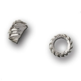 Patterned Silver Spacers 12pk