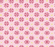Pink Daisy on White 1 Metre Fabric  2
