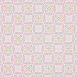 Pink Decorative Floral on White 1 Metre Fabric