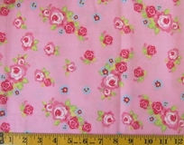 Pink Flowers Fabric Cut 6245, Single 145 x 110cm