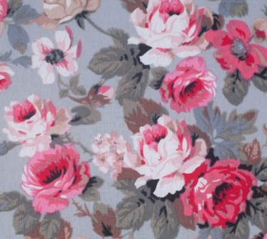 Pink flowers on grey large sewing box haberdashery online pink flowers on grey large sewing box 2 mightylinksfo