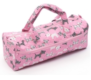 Pink Knit Bag With Dogs