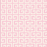 Pink Maze on White 1 Metre Fabric