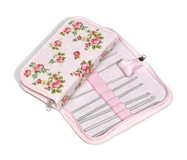 Pink Rose - Filled Crochet Hook Case (Clearance)