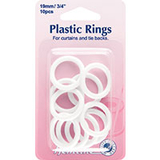 Plastic Curtain Rings 19mm