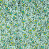 Pretty As A Peacock Blue & Green Feathers Fabric