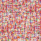 Punch Digital Fluttering Multi Paint Dots on White Fabric