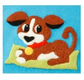 Puppy Felt by Number Kit