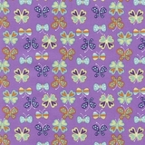 Purple Butterflies Fabric