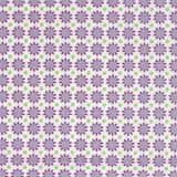 Purple Floral & Green Dots on White 1 Metre Fabric
