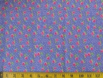 Purple Flowers and Polka Dots C6246 Fabric Cut, Single 145 x 110cm