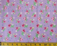 Purple Flowers Fabric Cut 6244, Single 145 x 110cm