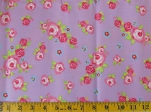 Purple Flowers Fabric Cut 6245, Single 145 x 110cm