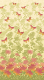Radiance Floral & Butterflies Pink Fabric