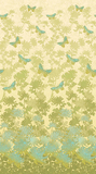 Radiance Floral & Butterflies Turquoise Fabric