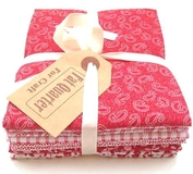 Classic Red Colours Fat Quarters, Pack of 6