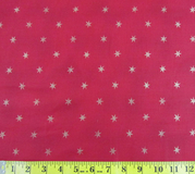 Red & Gold Stars Fabric