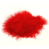 Red Marabou Feathers 20pk