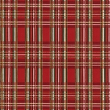 Red Metallic Tartan Fabric