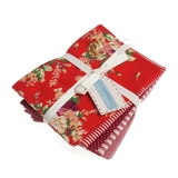 Red Printed Fat Quarter Bundle 5 Pack