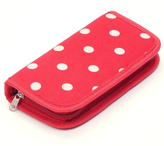 Red Spot Crochet Hook Case Filled [Clearance] Clearance