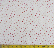 Red Stars & Swirls Fabric