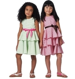 See and Sew Childrens Dress B5443 Size 2, 3, 4 + 5