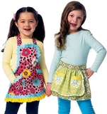 See and Sew Girls Aprons B5942 Size 3,4,5,6,7,8