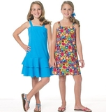 See and Sew Girls Dress B5592 Size 7, 8, 10, 12, 14 + 16
