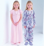 See and Sew Girls Nightgown, Top and Pants B4005 Size 2, 3, 4 + 5
