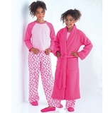 See and Sew Girls Robe, Top and Pants B4322 Size 7, 8 + 10