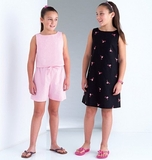 See and Sew Girls Top, Dress and Shorts B4161 Size 7, 8, 10, 12 + 14
