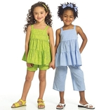 See and Sew Girls Top, Shorts and Pants Size 2, 3, 4 + 5