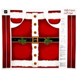 Sew & Go Santas Apron Red Fabric Panel