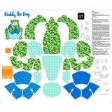 Sew N Go III Buddy The Frog Stuffable Craft Fabric Panel
