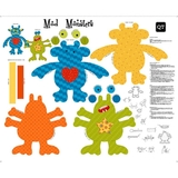 Sew N Go III Mod Monsters Stuffables Multi Craft Fabric Panel