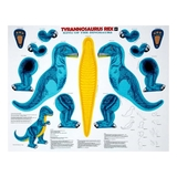 Sew N Go IV Tyrannosaurus Rex Teal Craft Fabric Panel