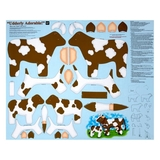 Sew N Go IV Udderly Adorable Brown Craft Fabric Panel