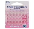 Sew On Snap Fasteners 7mm Invisible