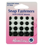 Sew On Snap Fasteners Assorted Black