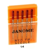 Janome Sewing Machine Red Tip Needles - 90