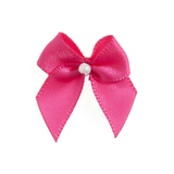Shocking Pink Pearl Crossover Bow 6pk