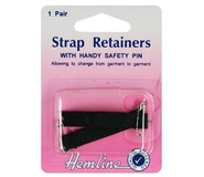 Shoulder Strap Retainer With Safety Pin Black