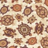Southwest Turtles on Tan Fabric