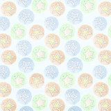 Star Dreams on Blue Flannel Fabric