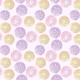 Star Dreams on Purple Flannel Fabric