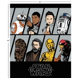 Star Wars 8 The Last Jedi Resistance Characters Fabric Panel