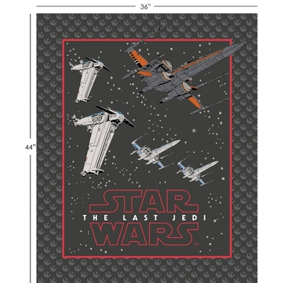 Star Wars 8 The Last Jedi Resistance Ships Fabric Panel