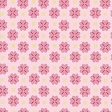 Stitch in Pink Circle on Pale Pink 1 Metre Fabric